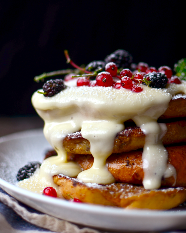 Yammies noshery blueberry bagel french toast with cream cheese glaze i dont even know if i actually made this up or saw somebody making bagel french toast on pinterest before but if youre the random person out there saying ccuart Image collections