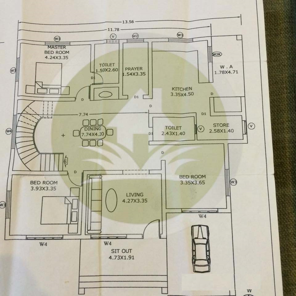 2100 Sq Ft Single Floor Sweet Home With Plan Sweet Home