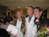 Madrinas del Banco junto al Dr. Argés