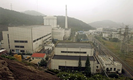 The Qinshan plant, outside Shanghai, is China's first nuclear power facility. (Credit: Eugene Hoshiko/AP) Click to enlarge.