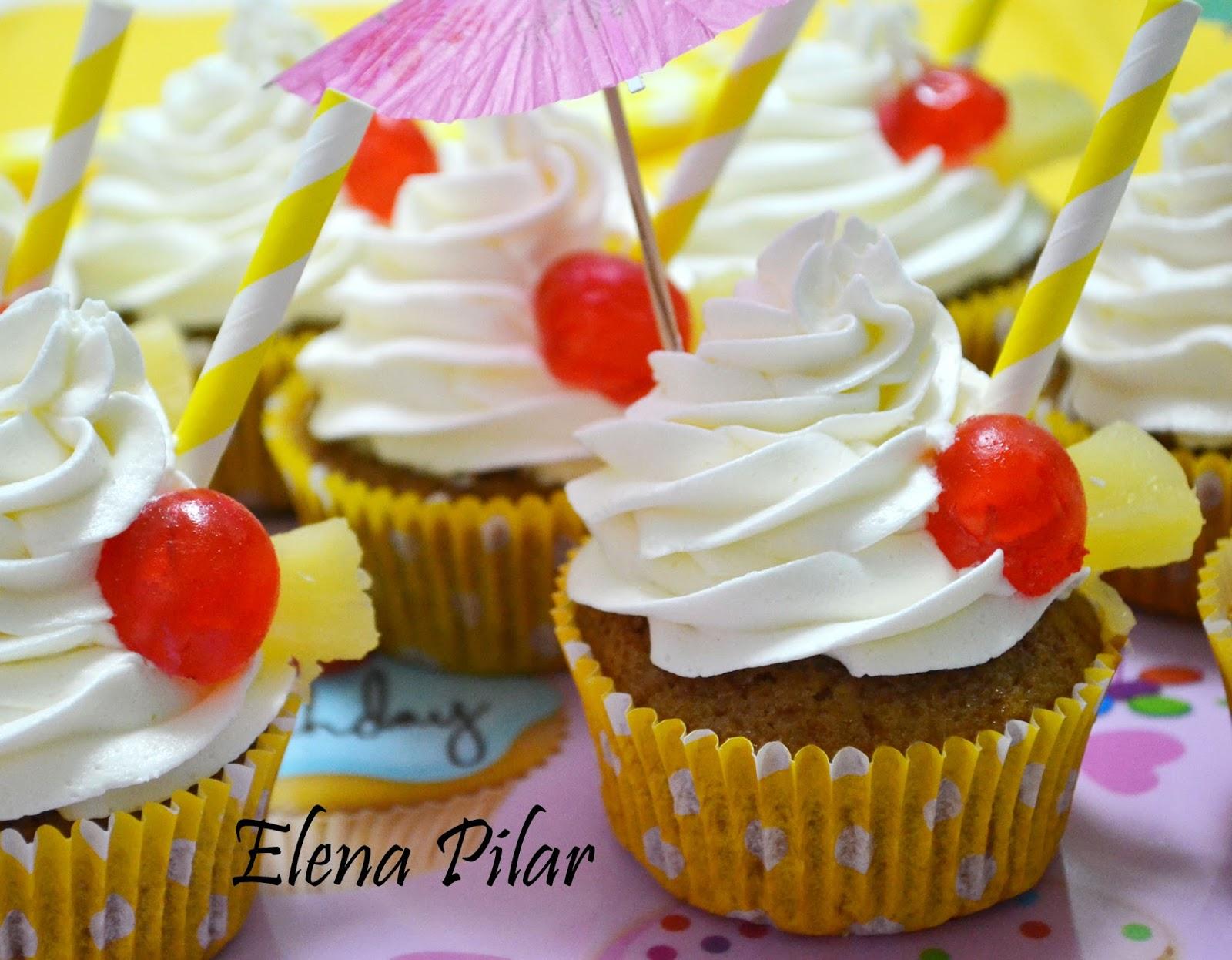 Pina Colada Cupcakes Using Cake Mix