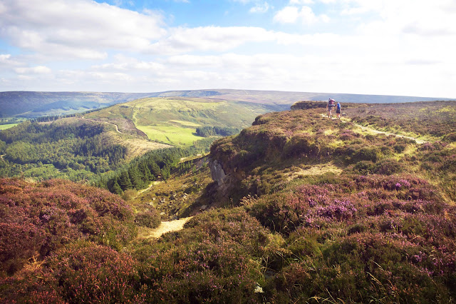 Walking on the Cleveland Way to the Wainstones, North York Moors