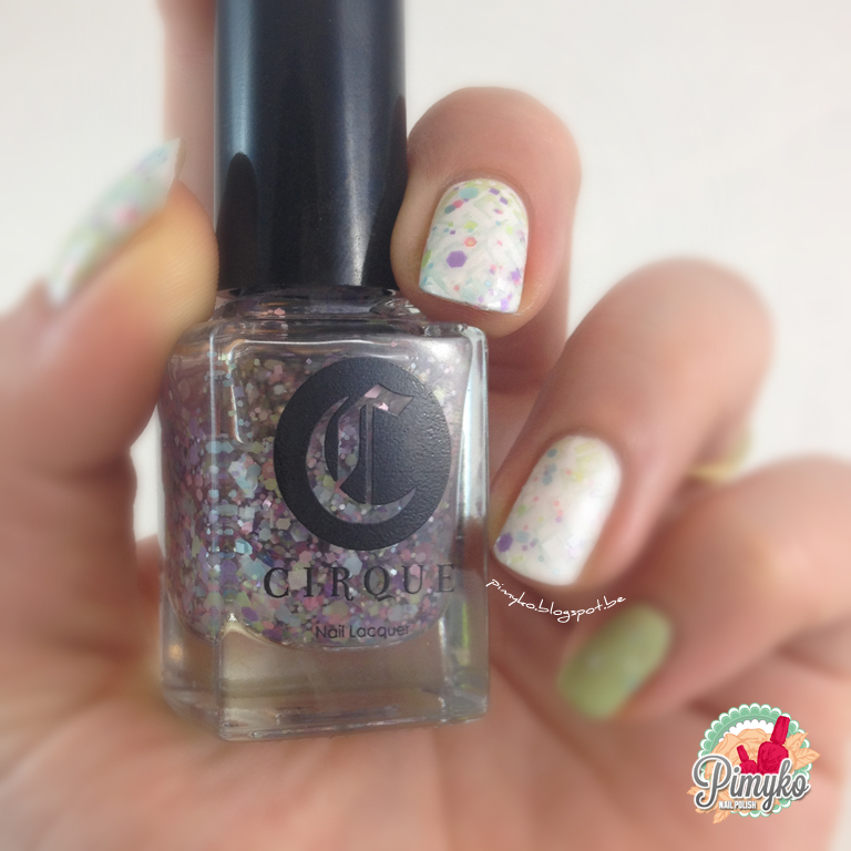 Pimyko lullaby by Cirque || blanc + navigate her by essie || that's what i mint by essence