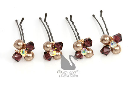 Mary Kay's Custom Mother of the Bride Crystal Pearl Hairpins (HP1500)