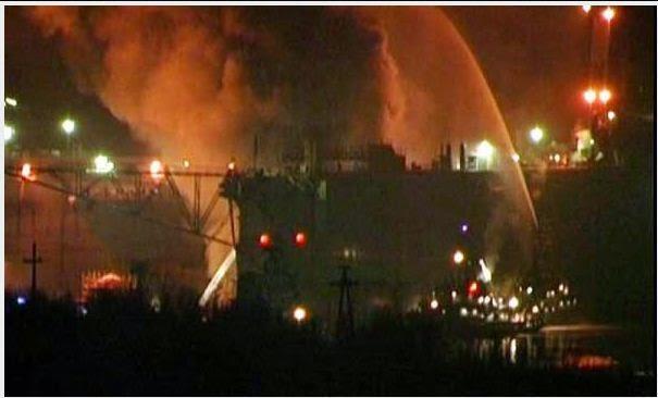 Submarino nuclear ruso arde en el Ártico