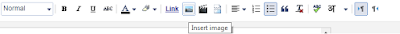 Insert image on blogger