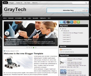 GrayTech Blogger Template