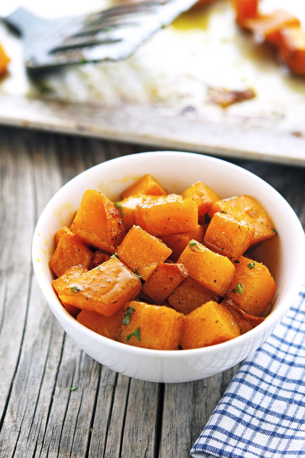 Spicy Maple-Glazed Butternut Squash