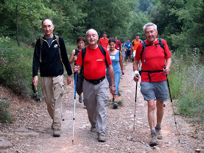Tres bons amics de caminades: el Francesc de Manresa, el Josep Maria i el Jaume d'Artés