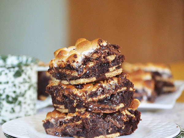 Hot Mess Brownies (S'more Ridiculousness!) and My week in 10