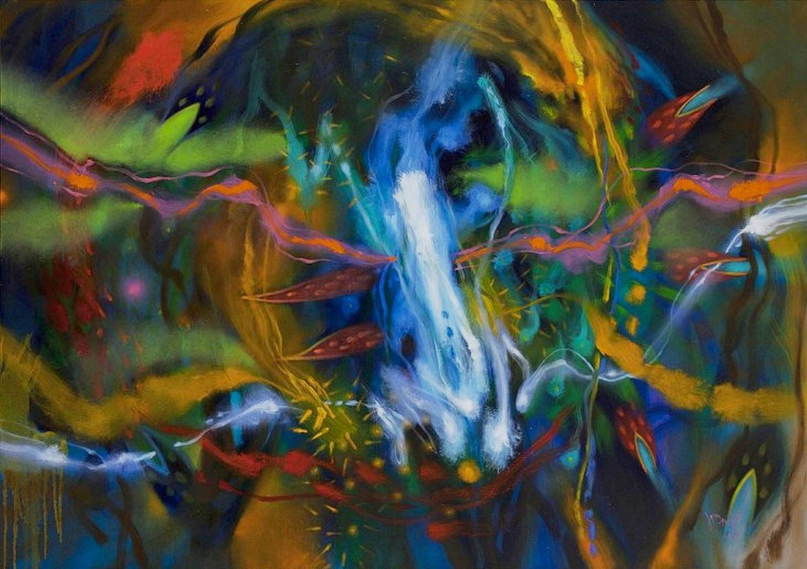 Cuadros pinturas oleos pintura al leo abstracto for Imagenes de cuadros abstractos faciles