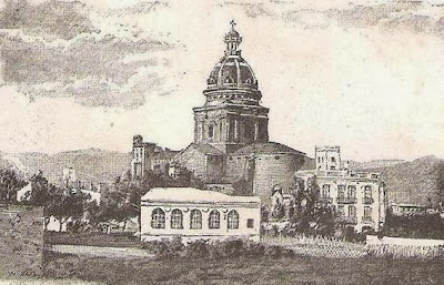 Dibujo antiguo de la Parroquia de Sant Andreu de Palomar