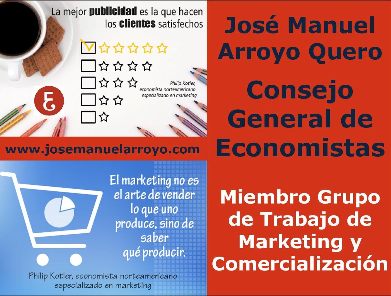 Miembro del Grupo de Trabajo de Marketing y Comercialización del Consejo General de Economistas