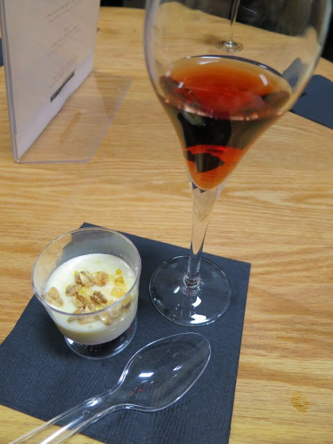 Crème Brûlée and Hinterbrook Cabernet Franc Icewine pairing
