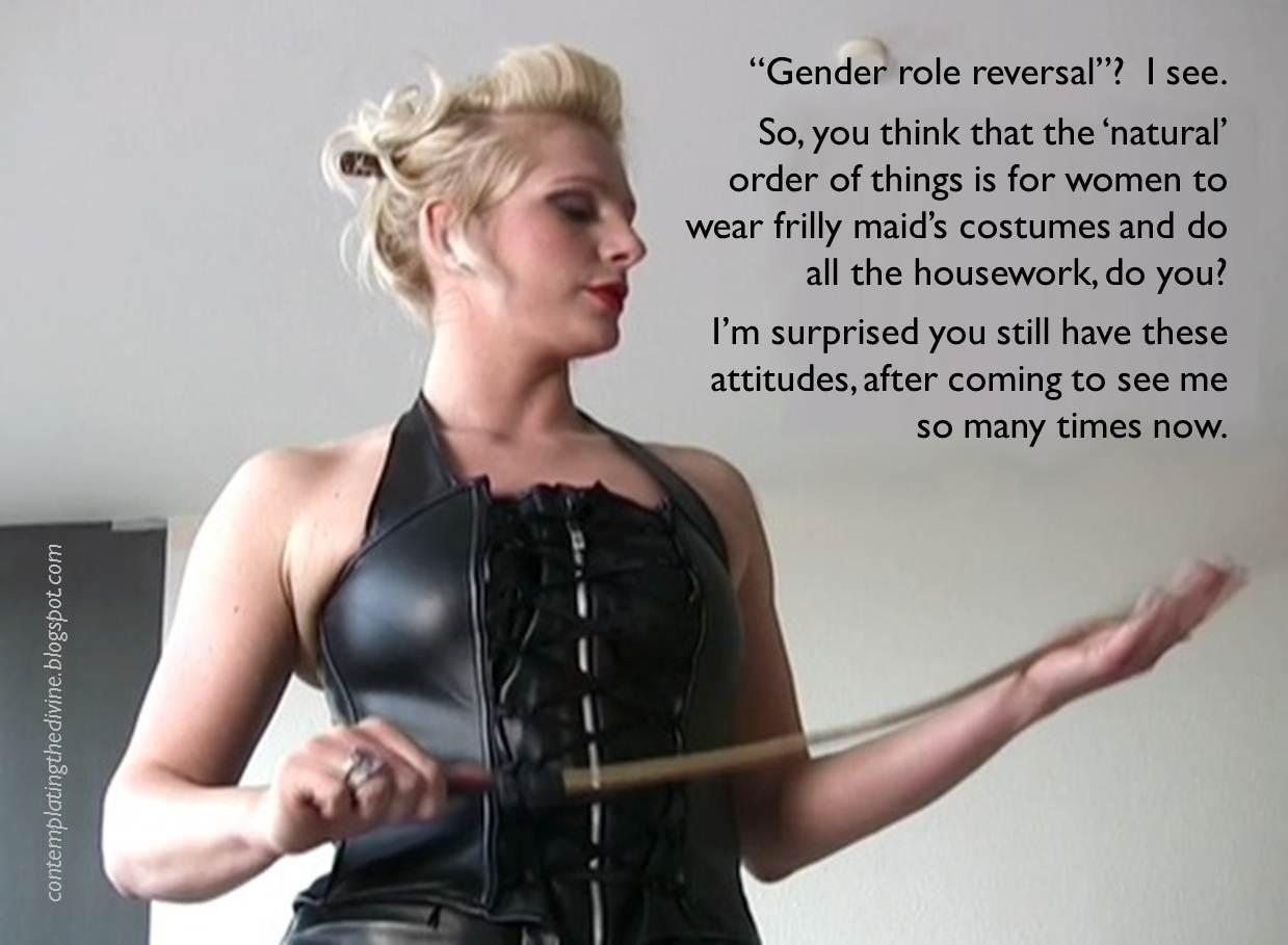 Femdom gender reversal