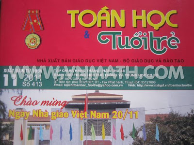 Đề thi thử số 2 năm 2012 trên Báo Toán học Tuổi trẻ