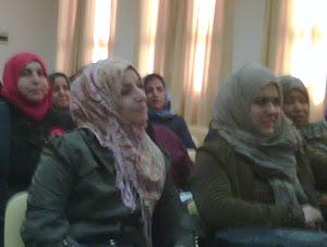 الاستاذة ابتسام القصبي ناشطة في حقوق المراة والطفل