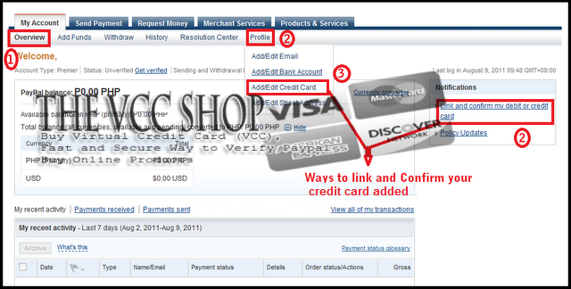 paypal how to cancel confirm credit card