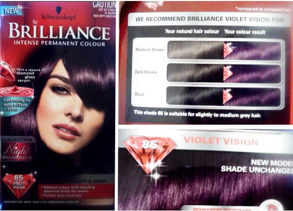 Violet hair color dye