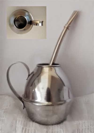 Mate de acero inoxidable S/ 50.00
