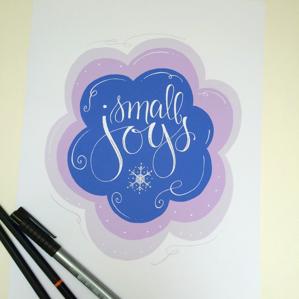 Lettering Lately > winter print from BrightWinter Studio, etsy