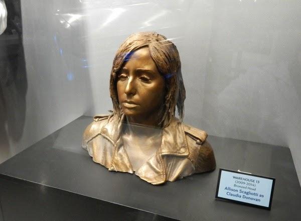 Warehouse 13 Bronzed Claudia Donovan head prop