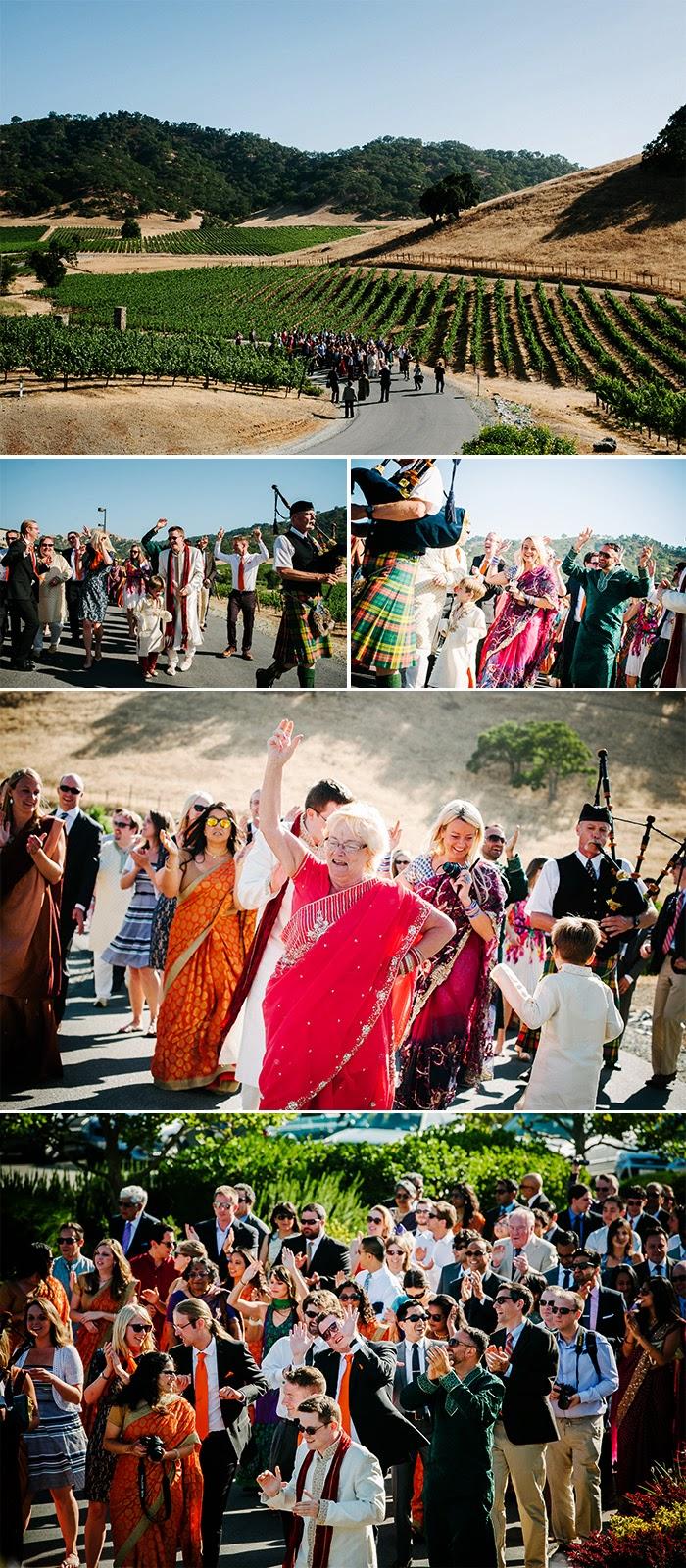 San Martin wedding Indian Bharat ceremony Clos LaChance Winery