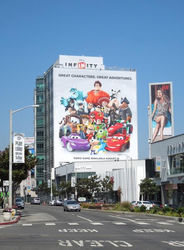 Giant Disney Infinity billboard Sunset Strip