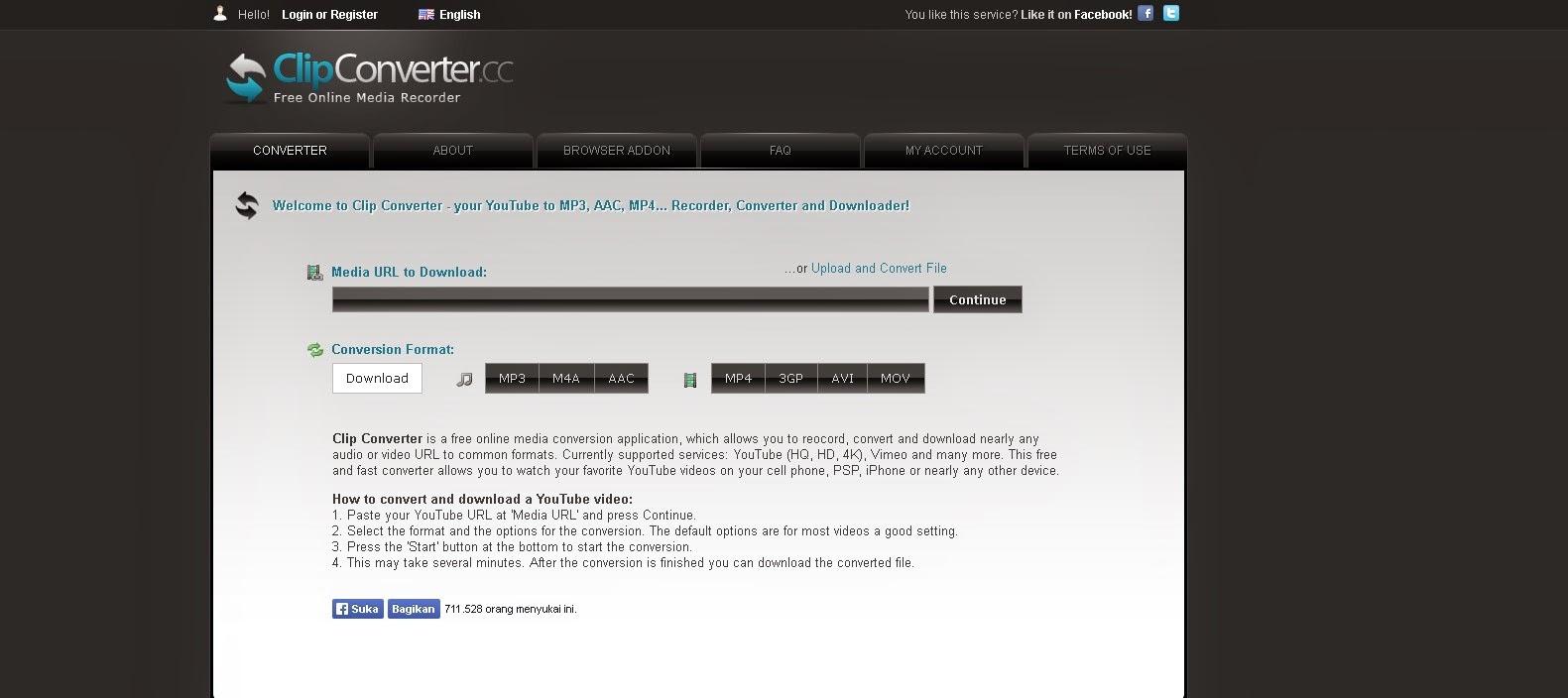 Situs Untuk Download Video Dari Youtube - Clipconverter