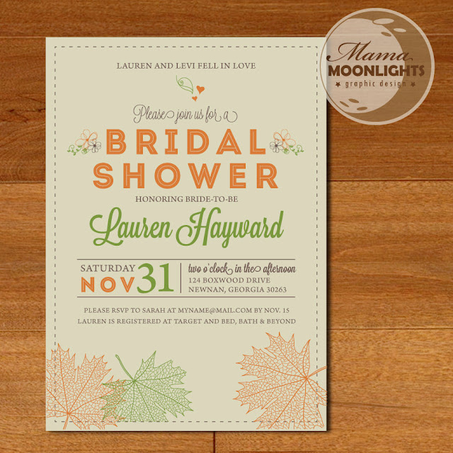 Autumn Bridal Shower Invitations7