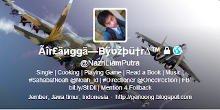 Twitter header, twitter badge translator