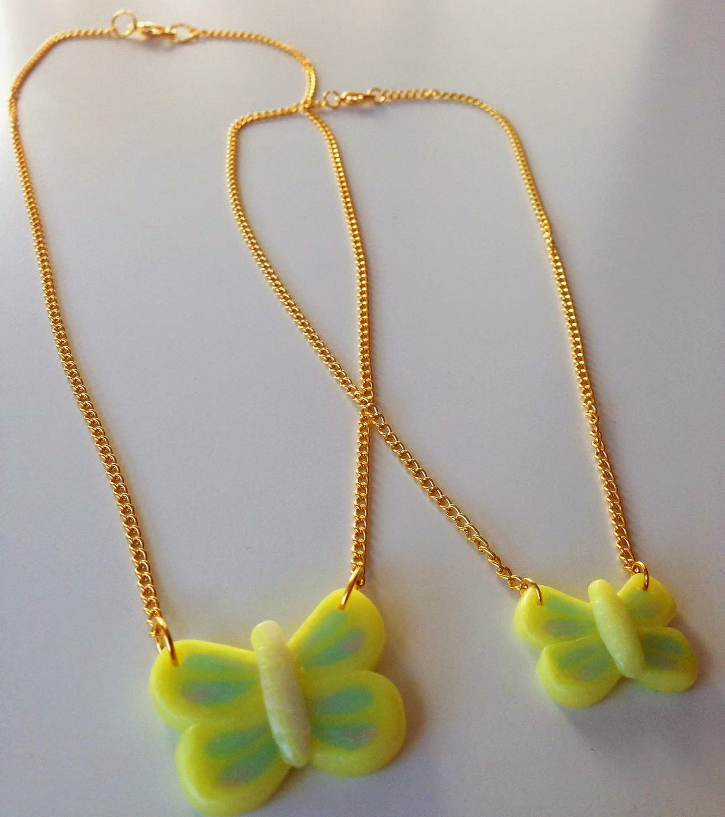 "Collares ""Me & mini Me"" Mariposa NM Designs"