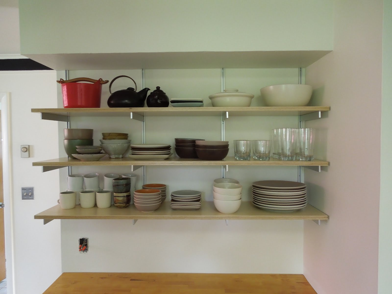 Hanging Shelves In A Small Kitchen