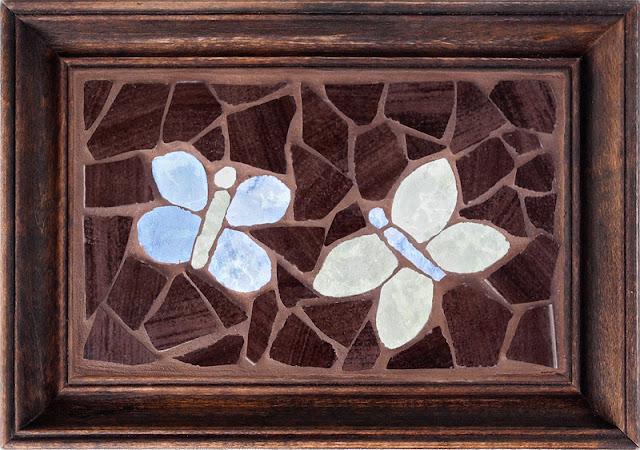 mozaika artystyczna - obrazek z motylami