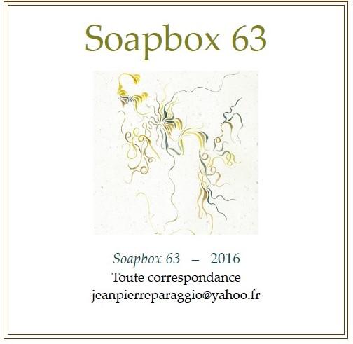 SOAPBOX 63, FEUILLET DE L'UMBO, ART & POÉSIE, OCTOBRE 2016