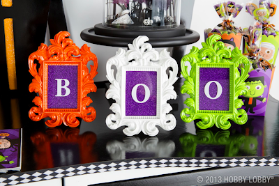 Boo decorative frames, Halloween Decorations, Party