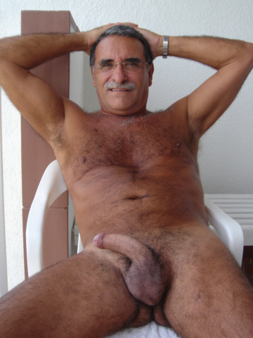Older Big Cock Gay Men Hairy Daddies Silver Old Mature
