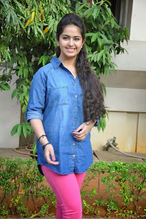 Acress Avika Gor Pictures in Pink Tight Jeans at Uyyala Jampala Movie Press Meet  0032.jpg