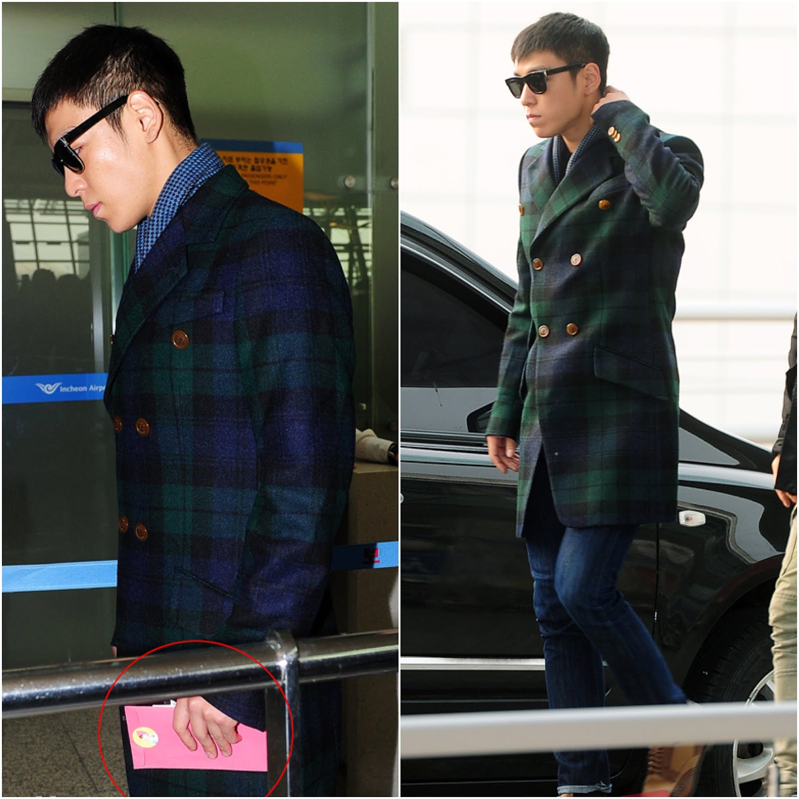00O00 London Menswear Style Celebrity style blog TOP [탑} from BigBang in Vivienne Westwood - Incheon Airport