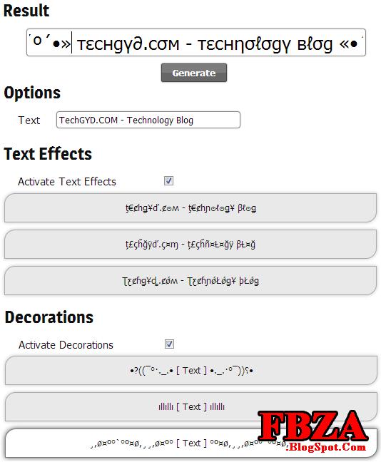 stylish text generator