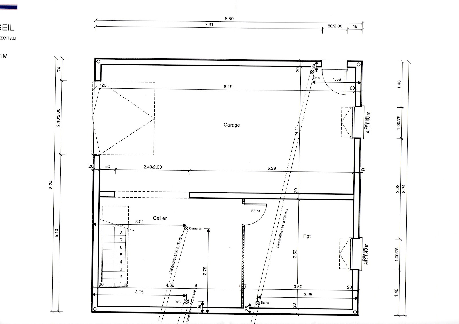 Plan maison avec combles am nag s for Plan de combles