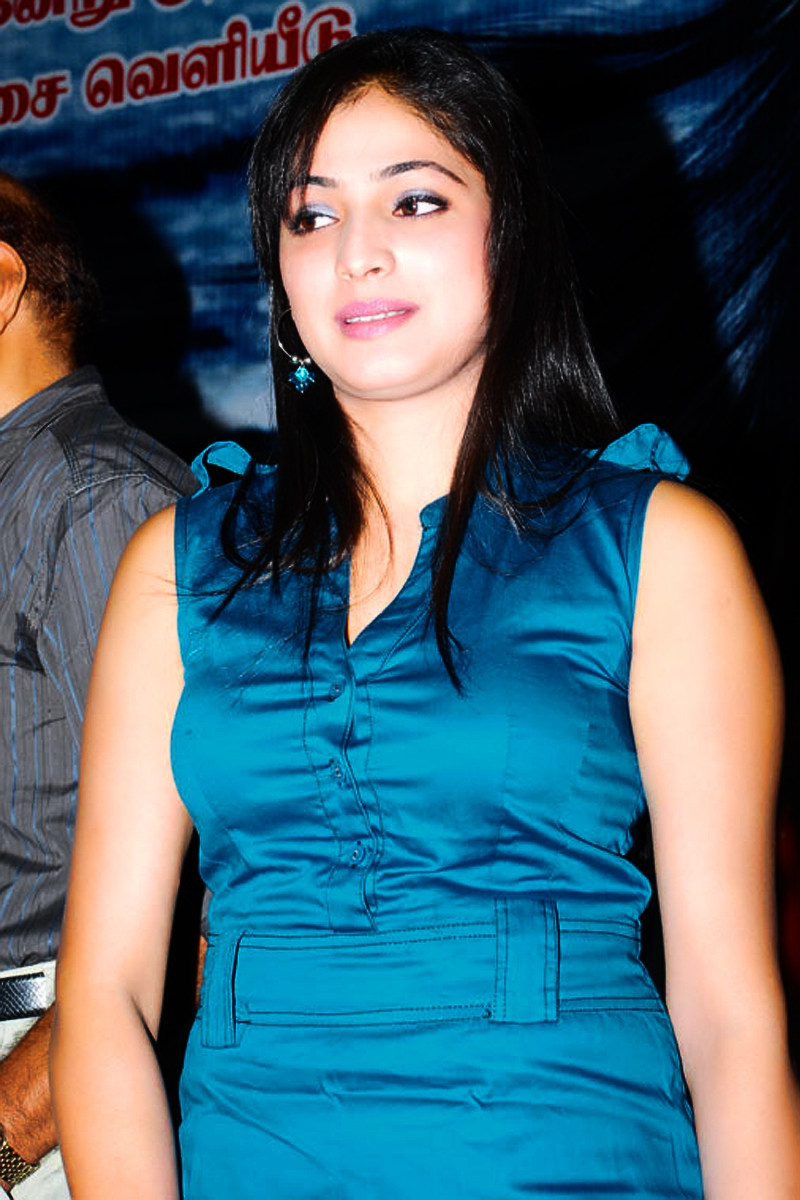 south indian cute and hot girl s blue dressed photo   haripriya in hot