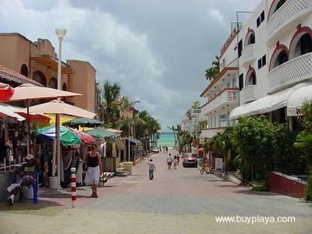 Downtown de Playa del Carmen en México