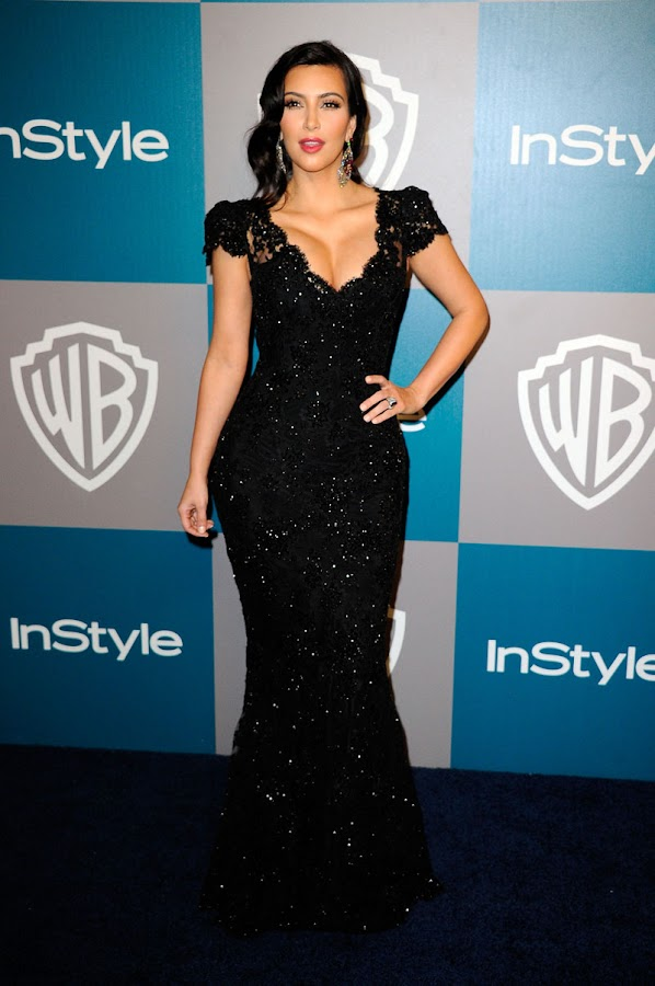 Kim%2BKardashian%2B %2BWarner%2BBros%2BInStyle%2BGolden%2BGlobe%2Bparty1 Kim Kardashian Photos at Warner Bros InStyle Golden Globe Party