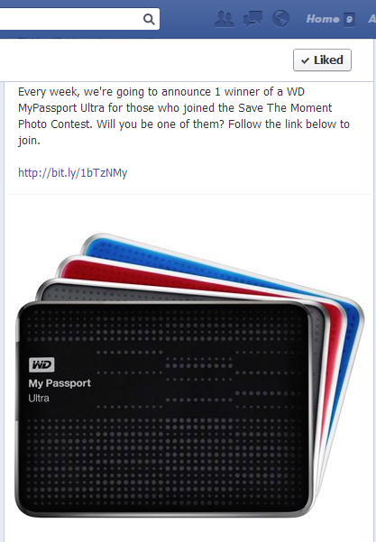 Western Digital Save Your Moments on Your Personal Cloud with WD Promo