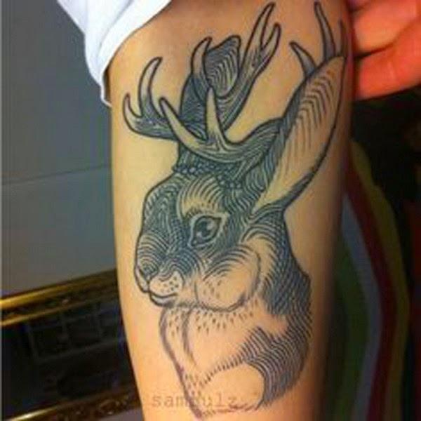 Gambar Tattoo Kelinci