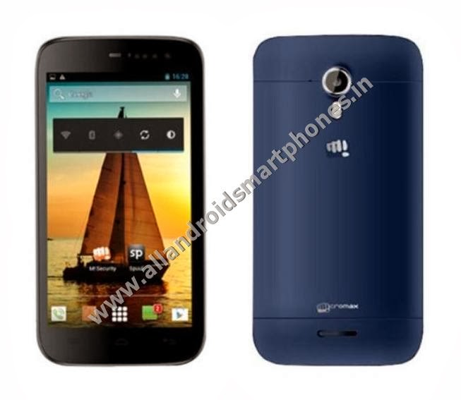 Micromax A117 Canvas Magnus 3G Android Phablet Blue Black Color Front Back Side Photos Images Review