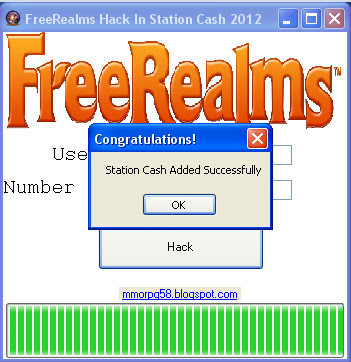 A cheat code for station cash in Free Realms