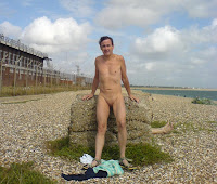naturist, nudist, nudist beach, Eastney Beach, naked man, naked boy