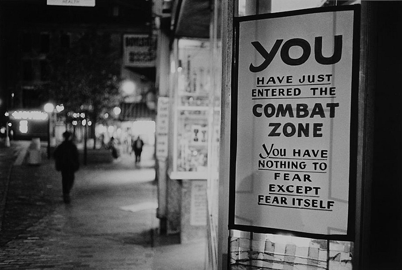 Pictures of Everyday Life of The Combat Zone, Boston in